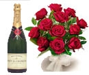 24 Roses Champagne combo