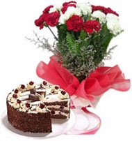 Spring Sensation 20 Carnations & Cake
