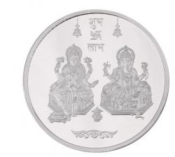 10g 999 Silver Coin Lakshmi Ganesha