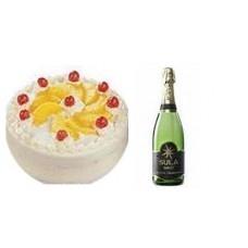 Half Kg Pineapple Cake N Champagne