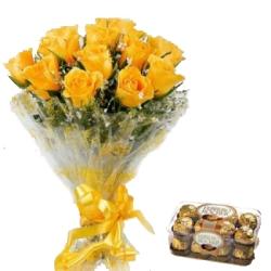 Yellow Rose N Chocolate