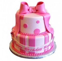 2 Tier Pink Gift Cake 3Kg