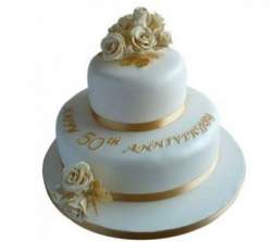 2 Tier Wedding Cake 3kg