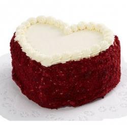 Heart Shape Red Velvet Cake 1 Kg
