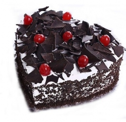 Heart Shape Black Forest Cake 1kg