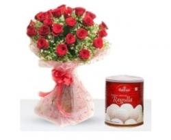 15 Red Rose N Rasgulla