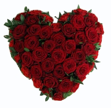 Heart 25 Red Roses