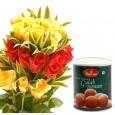 Love N Passion 20 Roses & Gulab Jamun