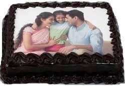Happy Family Chocolate Photo Cake 1kg