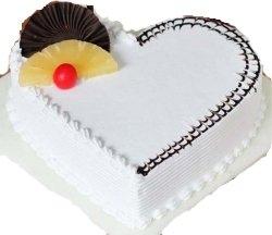 Vanilla Heart Shape Cake 1kg