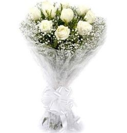 Pure Love Bunch of White Rose