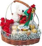 Love Blush 15 Roses Ferrero Rocher Box & Teddy