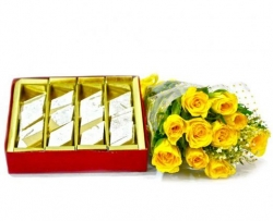 Yellow Rose N Kaju Katli