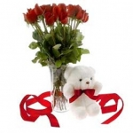 Deep Love 10 Red Roses Bouquet