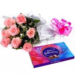 Pink Roses N Celebration Pack