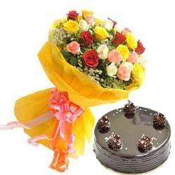 30 Mix Roses N Cake