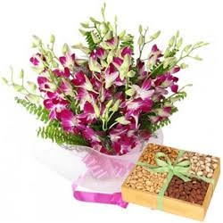 Orchid N Dry Fruits Combo