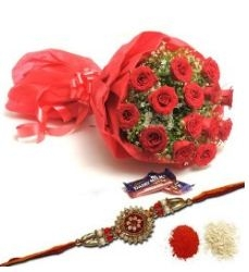 Rakhi Roses and Chocolates