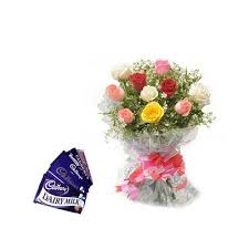 10 Mix Roses N Chocolate