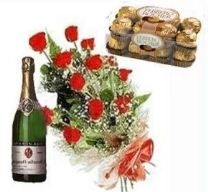 Love Combo Roses Chocolate N Champagne