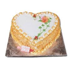 Heart Shape Butterscotch Cake 1kg