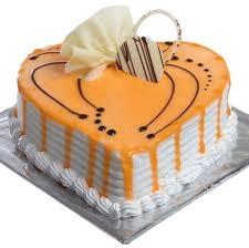 2 kg Heart Shape Butterscotch Cake