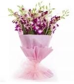15 Purple Orchid Bouquet