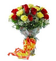 15 Red N Yellow Roses