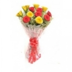 Love You Forever Red N Yellow Roses