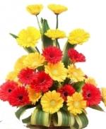 Red N Yellow Gerbera Basket