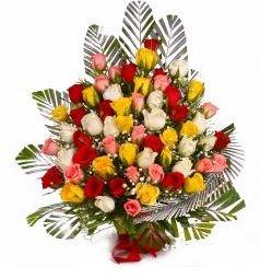 75 Mix Roses Basket