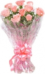 Lovely 10 Pink Roses