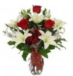 Roses N Lily Arrangement