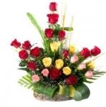 25 Roses Basket