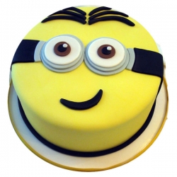 Minion Smiling Fondant Shape Cake