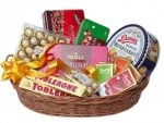 Basket with Imported Chocolates