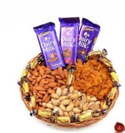 Mixed Chocolates and Dry Fruits Basket