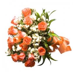12 Orange Delight Roses