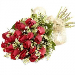 20 Red Roses Best Wishes