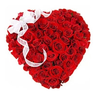 Valentine Heart 60 Red Roses Flowers