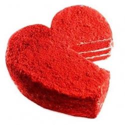 Red Velvet Heart Cake - 1 Kg