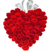 40 Roses Heart Shape Arrangement