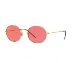 RAY BAN Mens Round UV Protected Sunglasses