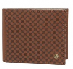 ALLEN SOLLY Mens Leather 1 Fold Wallet
