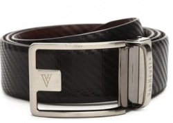 VAN HEUSEN Mens Leather Buckle Closure Formal Belt