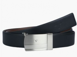 BULCHEE Mens Leather Buckle Closure Casual Belt