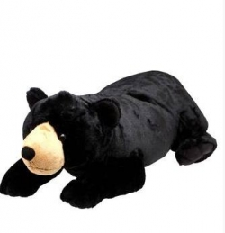 WILD REPUBLIC Unisex Black Bear Soft Toy