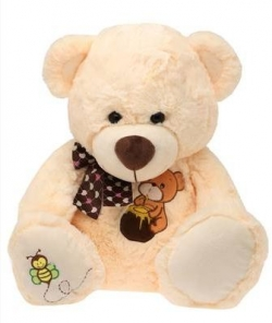 MONOPOLY Unisex Teddy Bear with Ribbon Soft Toy