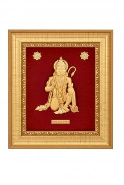 Hanuman ji 24 karat gold.