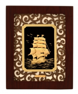 Sailing Ship Embossed